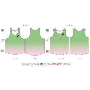 アシックス プリントオーダーコンポ受注生産 ランニングシャツ(レディス) 陸上・ランニング ウエア PA01-PO|jimmy-sp