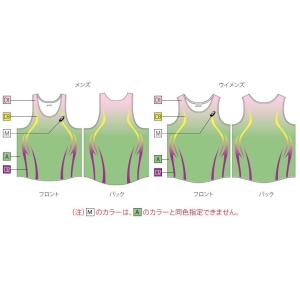 アシックス プリントオーダーコンポ受注生産 ランニングシャツ(レディス) 陸上・ランニング ウエア PA03-PO|jimmy-sp