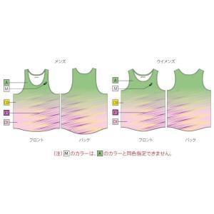 アシックス プリントオーダーコンポ受注生産 ランニングシャツ(レディス) 陸上・ランニング ウエア PA07-PO|jimmy-sp