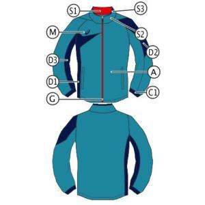 アシックス オーダーコンポ受注生産 トレーニングジャケット(ユニセックス) スポーツウエア PD02