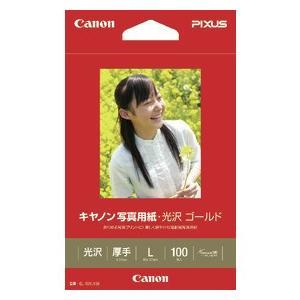 Canon キヤノン 写真用紙 ・ 光沢 ゴールド L判 GL-101L100 100枚/1冊 【Canon直送品】  (2310B001)|jimukiya