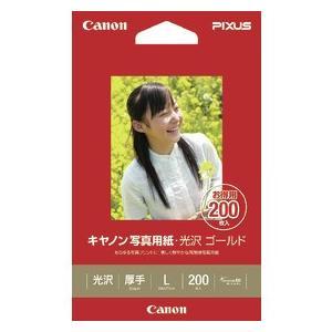 Canon キヤノン 写真用紙 ・ 光沢 ゴールド L判 GL-101L200 200枚/冊  【Canon直送品】 (2310B002)|jimukiya
