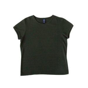 <title>送料込 GAP ギャップ L カーキストレッチ Tシャツ</title>