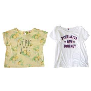 <title>Pinklatte ピンクラテ ◆高品質 ワイドデザイン 半袖Tシャツ 2枚セット</title>