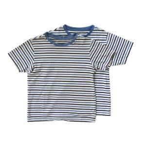 UNIQLO 輸入 ユニクロ 今季も再入荷 ボーダー 半袖Tシャツ 子供服 ボーイズ キッズ 2枚セット