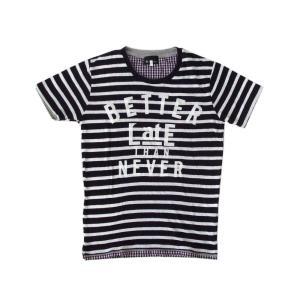 <title>THE SHOP TK MIXPICE ザ ◆セール特価品◆ ショップ ティーケー ボーダーサーマ―ニットTシャツ TAKEO KIKUCHI タケオキクチ</title>
