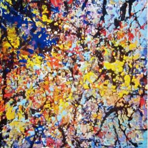Rebirth of Memory-05 F3 油彩画抽象絵画 画家下田和弘|jinbou