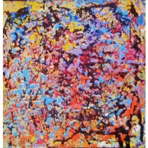 Rebirth of Memory-06  F3 油彩画抽象絵画 画家下田和弘|jinbou