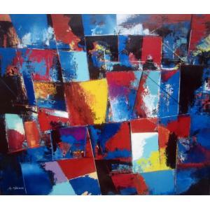 Rebirth of Memory-11  F10 油彩画抽象絵画 画家下田和弘|jinbou