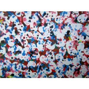 みんなの世界 水彩画 抽象画 6号サイズ 山岸元信作 jinbou