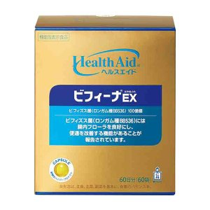 ビフィズス菌サプリメント ヘルスエイド ビフィーナEX(エクセレント)60日分 乳酸菌 オリゴ糖 森下仁丹|jintan