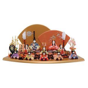 雛人形 木目込み 10人飾り 十人飾り 一秀 かわいい コンパクト ひな人形 ミニ おしゃれ 可愛い...