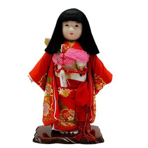 市松人形 童人形 だき人形間口30×奥20×高45cm 市松人形の通販販売店。初節句の市松人形購入の...