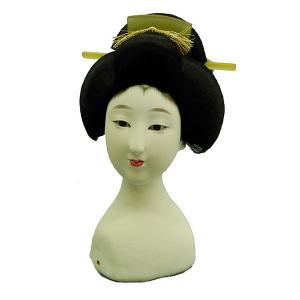 日本人形頭 顔 手芸品 部品 尺三 芸者 (訳あり品)当商品は倉庫管理品(商品在庫品)となっておりま...