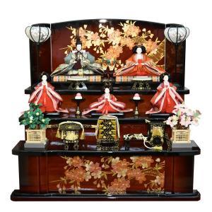 雛人形 3段飾り ひな人形 組立式 三段 5人飾り 初節句 お雛様 JIN雛匠シリーズ|jinya