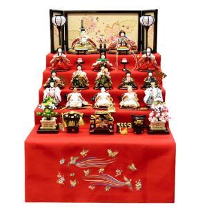 雛人形 コンパクト ひな人形 15人段飾り 五段飾り 横幅60cm ミニ お雛様 JIN雛 シリーズ|jinya