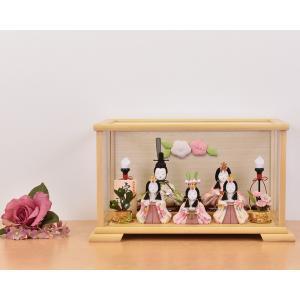 雛人形 一秀作 ひな人形 ケース飾り コンパクト ミニ飾り 可愛いお顔 おしゃれ 5人飾り|jinya