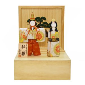 雛人形 コンパクト 収納 木目込み ひな人形 一秀作 初節句 出荷にお時間を頂戴しております。|jinya