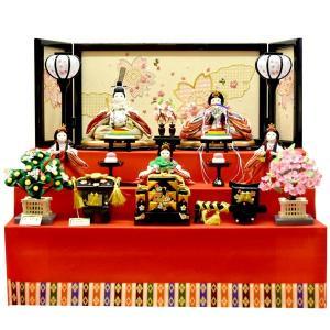 雛人形 コンパクト ひな人形 5人飾り 3段飾り ミニ お雛様 JIN雛 シリーズ|jinya