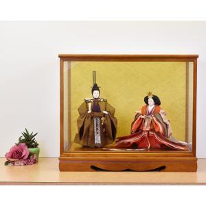雛人形 ケース飾り ひな人形 親王飾り 月結 153-217|jinya