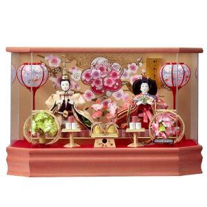 雛人形 ケース飾り ひな人形 親王飾り 桃香 153-213|jinya