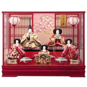 雛人形 ケース飾り ひな人形 5人飾り 紅雅 143-524|jinya