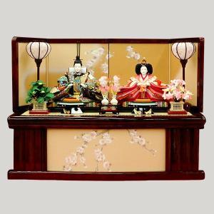 雛人形 収納飾り 親王飾り 平飾り コンパクト|jinya