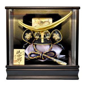 五月人形 ガラス 伊達政宗 兜飾り ケース飾り 5月人形 コンパクトミニ yoroi-49|jinya