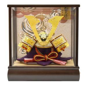 五月人形 ガラス 兜飾り ケース飾り 5月人形 コンパクトミニ yoroi-49|jinya