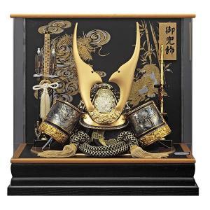 五月人形 兜飾り コンパクト 着用兜 ケース入り かぶと飾り 155-773 kabuto60-69|jinya