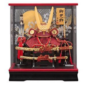 五月人形 兜飾り コンパクト 真田幸村 ケース飾り 兜飾り 135-746 kabuto-49|jinya