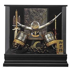 五月人形 兜飾り コンパクト 着用 ケース 飾り 兜 上杉謙信 155-769 kabuto60-69|jinya