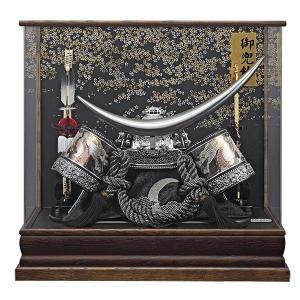 五月人形 兜飾り コンパクト 着用 ケース飾り 兜 伊達政宗 155-751 kabuto60-69|jinya