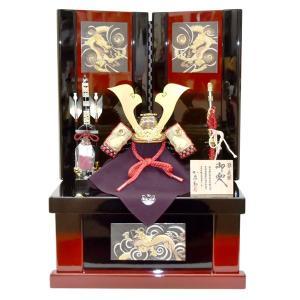 五月人形 加藤鞆美 収納飾り 源義経 コンパクト 兜飾り かぶと 5月人形 kabuto40-49|jinya
