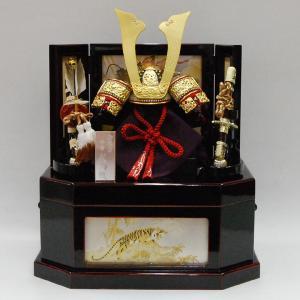 五月人形 武久 コンパクト 収納飾り 京兜  kabuto-49 jinya