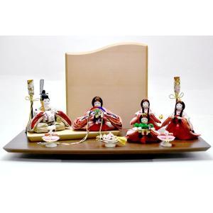 雛人形 コンパクト ひな人形 5人飾り 平飾り ミニ お雛様 JIN雛 シリーズ|jinya