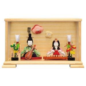 雛人形 コンパクト 木目込み ミニ ひな人形 一秀 初節句|jinya