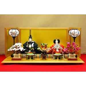 雛人形 ひな人形 親王飾り 逸品 正絹 黒鶴刺繍|jinya