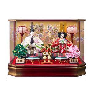 雛人形 ケース飾り ひな人形 コンパクト 可愛い ミニ 葵三五親王飾 203-246 アクリルケース