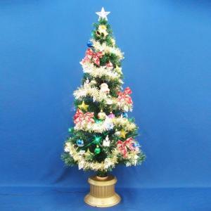 クリスマスツリー 150cmグリーンファイバーツリーセット14 LED付き|jinya