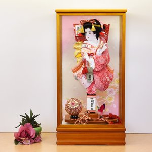 羽子板 羽子板飾り 初正月 コンパクト 13号 ピンク|jinya