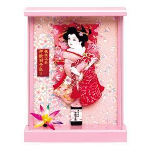 羽子板 壁掛け 初正月 羽子板飾り 7号 ケース入り お祝い 正月飾り 手作り おしゃれ 凛 ピンク|jinya