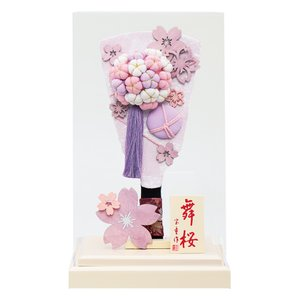 羽子板 お祝い 9号 アクリルケース 舞桜(オフホワイト) ケース飾り アクリルケース おしゃれ かわいい 可愛い コンパクト モダン jinya