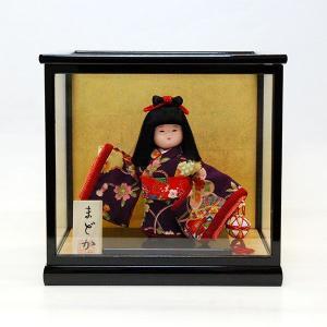 市松人形 ケース入り 5号 まどか 童人形 ガラスケース jinya
