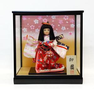 市松人形 ケース入り 8号 御園 童人形 ガラスケース jinya