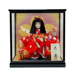 市松人形 ケース入り 8号 大原 童人形 ガラスケース jinya