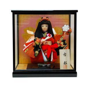 市松人形 ケース入り 8号 古都 童人形 ガラスケース jinya