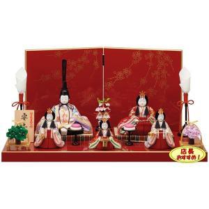 雛人形 木目込み 一秀 ひな人形 五人飾り 5人飾り コンパクト|jinya