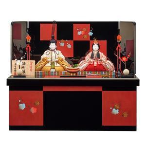 雛人形 木目込み 一秀  ひな人形 親王飾り 収納飾り|jinya