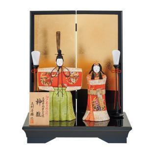 雛人形 木目込み 一秀  ひな人形 親王飾り 立雛  平飾り|jinya